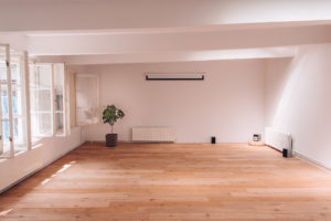 Prostor 8, parketový sál - místo konání semináře Konflikt jako příležitost